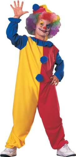 Haunted House Child's Clown Costume, Medium