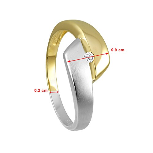 Diamond Line Femme  9 carats (375/1000)  Or jaune|#Gold Balle   Blanc Diamant FINERING