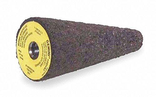 1-1/2'' Square Tip Grinding Cone, 3'' Thickness, Aluminum Oxide, 24 Grit, 3/8-24 Arbor Size