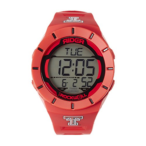 (Rockwell NCAA Texas Tech Red Raiders Men's Coliseum Watch, Adjustable, Red)