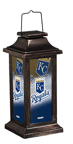 Team Sports America Light Up Solar Garden Lantern for Kansas City Royals Fans 4.4 x 10 x 4.4 Inches