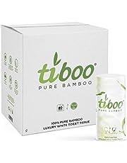 Tiboo 3Ply Bamboe Toiletrollen - 80 Pack - Slechts 60p per rol