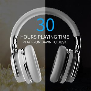 COWIN E7 Active Noise Cancelling Bluetooth Headphones with Microphone Deep  Bass Wireless Headphones Over Ear, Comfortable Protein Earpads, 30 Hours