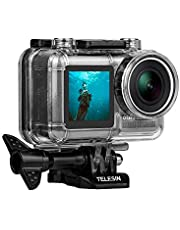 TELESIN waterdichte tas voor DJI OSMO Action Camera, beschermhoes voor DJI Osmo, waterdicht tot 60 m met snelspanner en gekartelde schroef