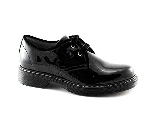Nero Giardini Black Gardens Junior Schwarzes Mädchen Schuhe Schnürt 31790 Glatte Farbe Nero