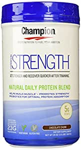 Champion Naturals Strength Protein Powder, Chocolate, 1.8 lbs