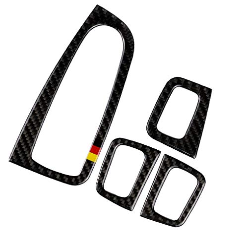 OmkuwlQ Carbon Fiber Window Control Panel Cover Trim Set Replacement for Mercedes C Class W205 C180 C200 GLC ()