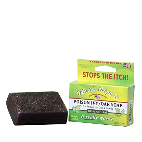 Marie's Original Poison Ivy Soap Bar - 100% All Natural Triple Acting Formula - Anti Itch Treatment for Poison Ivy, Poison Oak and Sumac - Removes Oils, Soothes and Relives Rashes - 2.9oz