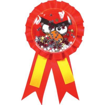 American Greetings Confetti Pouch Award Ribbon | Angry Birds Collection | Party Accessory]()