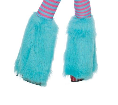 Aqua Fluffies Leg Warmers -