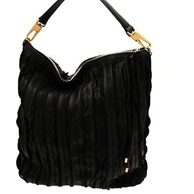 7d08d85d947a6 COCCINELLE Tasche Roxy Plisse Damen Schwarz - c1tg2130101  Amazon.de ...