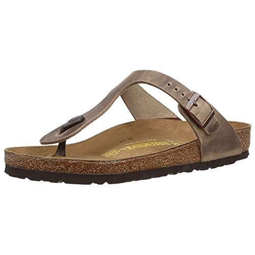 Birkenstock Women's GIzeh Thong Sandal, Tobacco Brown Leather, 40 M EU/9-9.5 B(M) US by Birkenstock