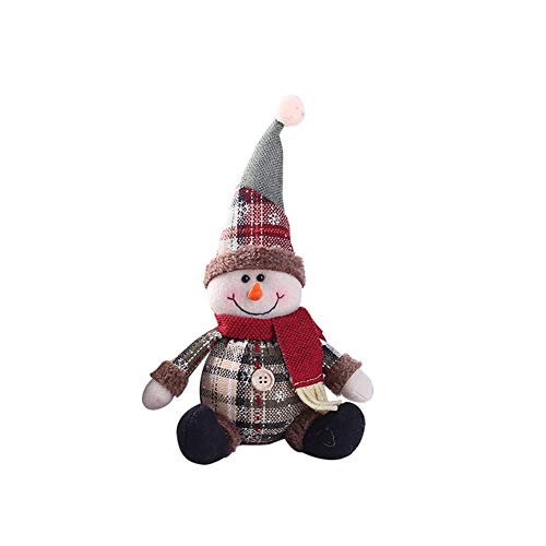 Slendima Lovely Santa Claus Snowman Xmas Table Decoration Christmas Party Ornament Doll Gift 2#]()