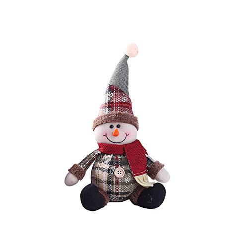 Connoworld - Adorno navideño de Papá Noel con diseño de muñeco de nieve, 2