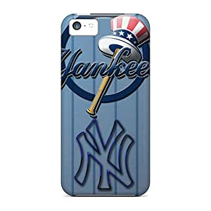 Iphone 5c QGm11357ivoH Support Personal Customs Lifelike New York Yankees Pattern Excellent Cell-phone Hard Cover -PhilHolmes