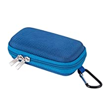 AGPTEK Small and Compact Protective Storage Case for Mp3 Players & Earphones, Blue