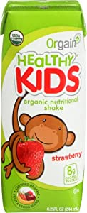Orgain Kids Protein Organic Nutritional Shake, Strawberry, 8.25 Ounce, 12 Count