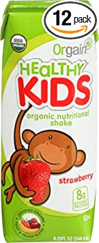 Orgain Kids Protein Organic Nutritional Shake, Strawberry