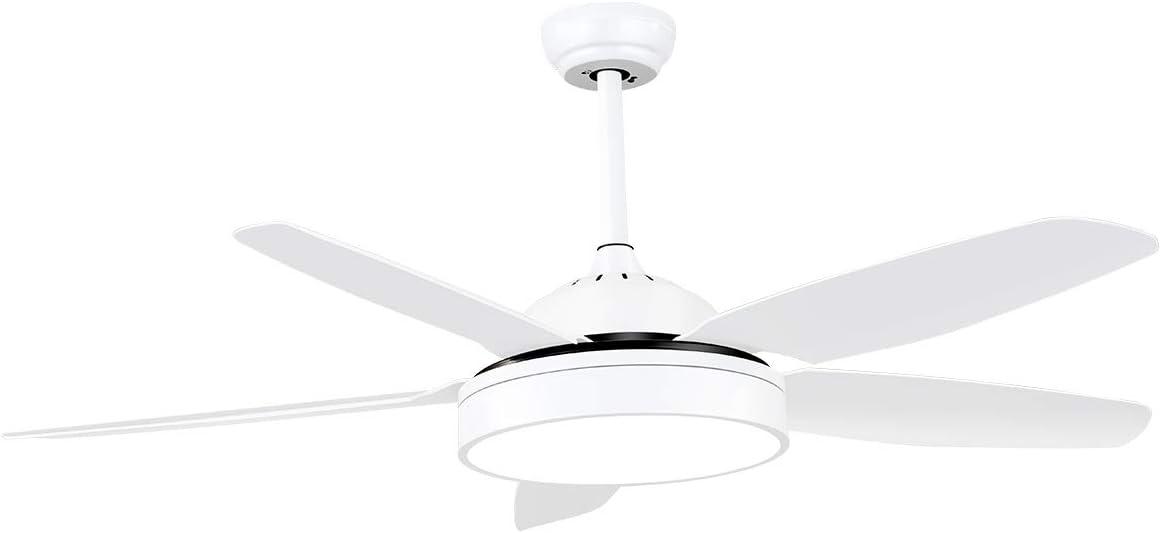 SOLLA LED Ventilador de Techo con Luz, Silencioso, 5 Aspas, Mando a Distancia, 42