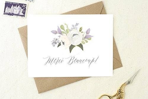 Baby Shower Thank You Cards. Thank You Cards Set. Thank You Cards Wedding. Merci Beaucoup Cards. Merci Cards. Set of Floral Thank You TY14
