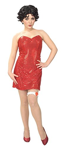 Betty Boop Halloween Costume Accessories (Betty Boop Costume - Small - Dress Size 6-8)