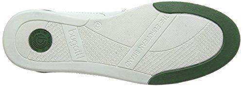 Bugatti 311137031011 - Zapatillas Hombre Blanco - Weiß (white green 2070)