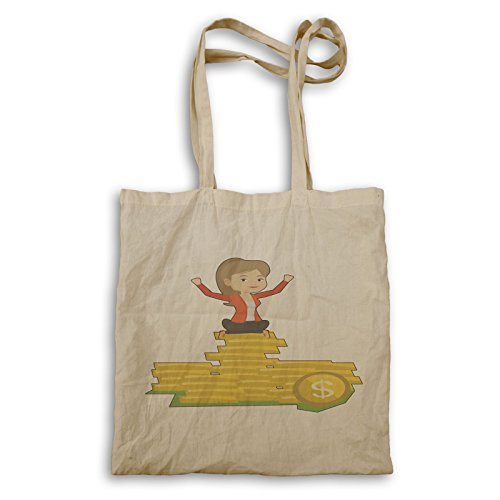 Business Tote Lady Gold Dollars Lady q568r Business bag Ewq6w