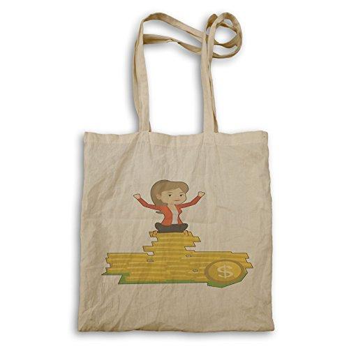 Business Tote Lady Gold Dollars Lady q568r Business bag Ewq6w