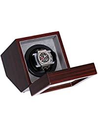 Single Watch Winder Burl Wood w/LCD Dispaly