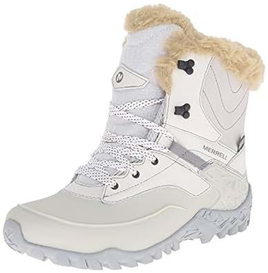 Merrell Women's Fluorecein Shell 8 Waterproof Winter Boot, Ash, 10 M US