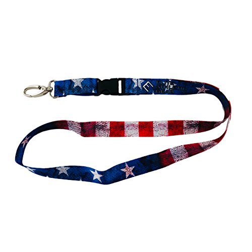 Lanyard Usa - Old Glory USA Flag Lanyard - Detachable Buckle and Upgraded Clasp for Keys, ID Card, Name Holder, etc.