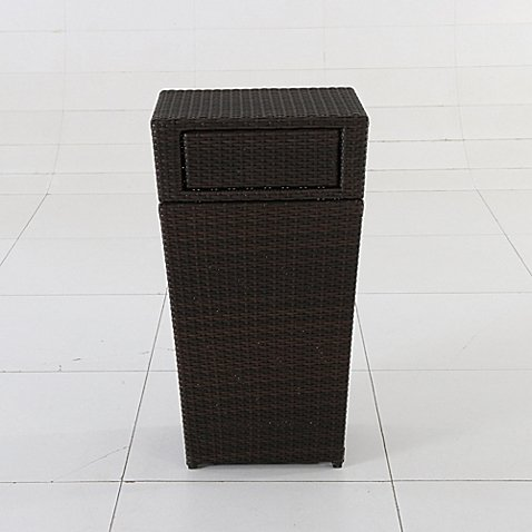 13-Gallon Wicker Trash Can in - 30 Gallon Trash Can Decorative
