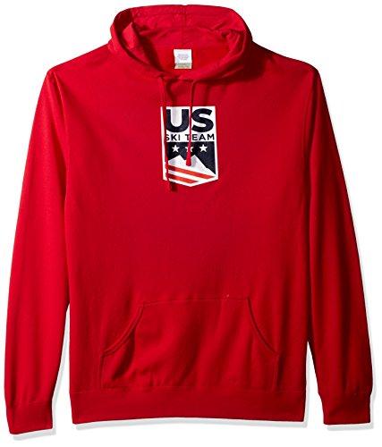 US Ski-Snowboard Licensed Apparel U.S. Ski Team Logo Hooded Sweatshirt, Red, Medium