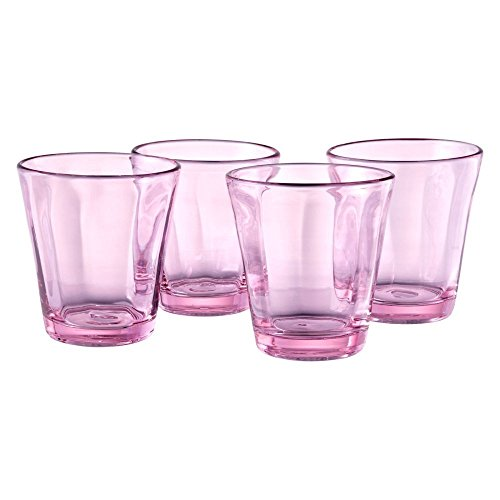 - Artland Kassie 10 Ounce Pink Double Old Fashioned Glass, Set of 4