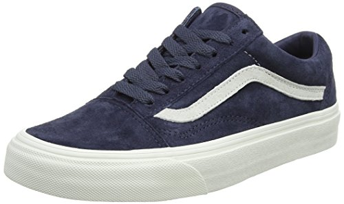 Adults' Trainers Blanc Top Blue Blanc Low Skool Night Red Suede Parisian Vans Old Unisex De Pig wBUWtY