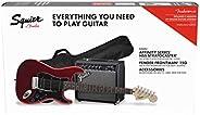 Squier by Fender Affinity Stratocaster Beginner Pack, Laurel Fingerboard, Candy Apple Red, with Gig Bag, Amp,