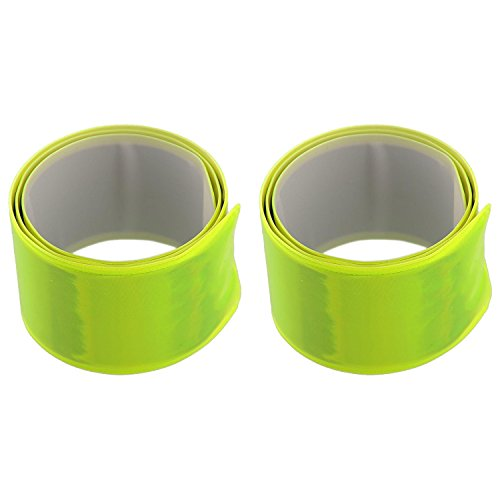 (Elite Choice Reflective Wrist Bands - 2 Reflection Ankle Bands for Working at Night, Running , Jogging, Raves, Parties and Bike Rides (2 Reflective Bracelets Per Pack))