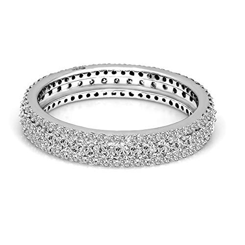- 100% Pure Diamond Ring Luxury Pave Diamond Ring 1 cttw IGI Certified Lab Grown Diamond Engagement Rings For Women Lab Created Diamond Rings SI-GH Quality 10K Real Diamond Band Rings