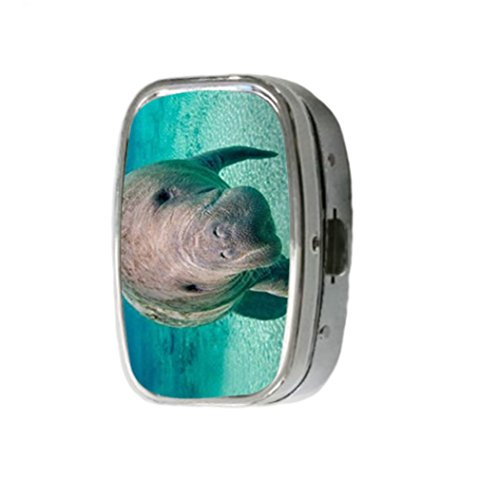 gifts-manatee-customize-unique-silver-square-pill-box-medicine-tablet-organizer-or-coin-purse-by-ose