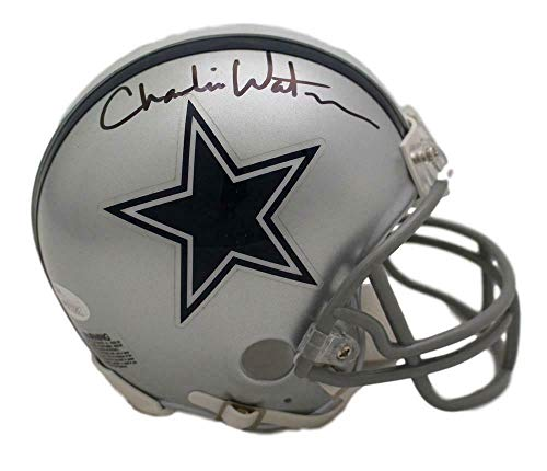 Charlie Waters Autographed/Signed Dallas Cowboys Mini Helmet JSA Autographed Cowboys Mini Helmet