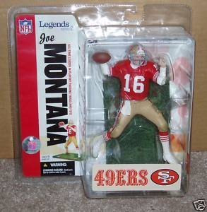 Joe Montana #16 San Francisco 49'ers Forty Niners Red Jersey McFarlane NFL Legends Series 2