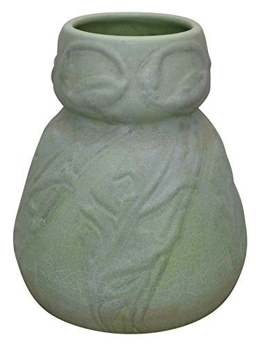 Van Briggle Pottery 1903 Flowers and Leaves Matte Green Ceramic Vase Shape 137 (Pottery Briggle Van)