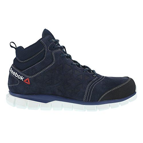 Reebok WORK ib1035S343Excel Light Athletic Sicherheit Hiker Schuh, Aluminium Fuß, Wildleder, Obermaterial Leder, Größe 43, Blau/Weiß