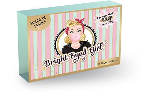 Bright Eyed Girl Magnetic Eyelashes Kit - Best Full Length Premium Fake Silk EyeLash Extensions - Easy to Apply Reusable Dual Magnet False Lashes Strips - No Glue - Natural - Handmade - - Girl Lash