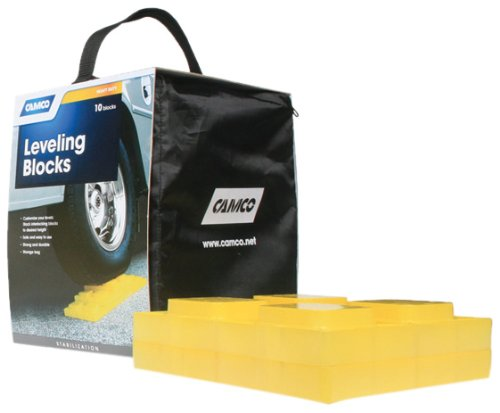 Camco 44505 Leveling Blocks, 10-Pack made our list of RVing Tips For Beginners