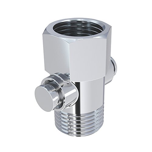 Control Polished Chrome Push (Kes Shower Head Shut-Off Valve Brass with Metal Push Button Handle, Polished Chrome K1142)