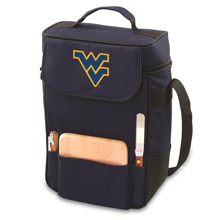 NCAA West Virginia Mountaineers Duet Insulated Wine and Cheese Tote with Team Logo