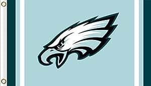 Nuevo, exclusiva de bandera de Philadelphia Eagles NFL mercancía para interior/exterior Uso, 100% poliéster, 3x 5m