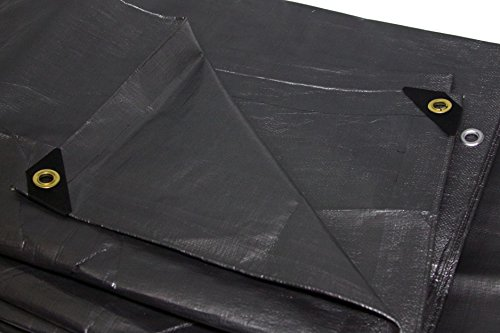 Heavy Duty Silver Tarp 6 OZ., 10'x10' by HARPSTER TARPS