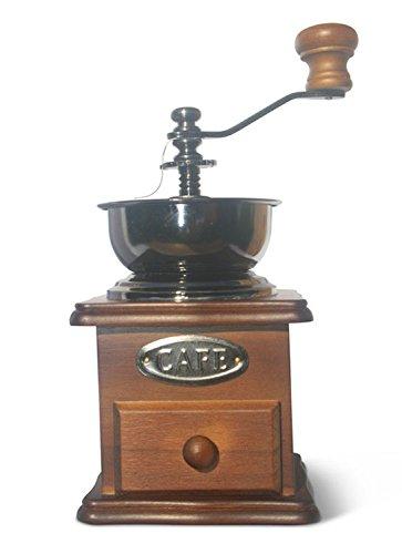 Manual Grinder / Coffee Grinder / Spice Grinder / Vintage Grinder / Wooden Grinder - solid Beech (not Pine), 'professional' ceramic burr - SALE PRICE! by molmo